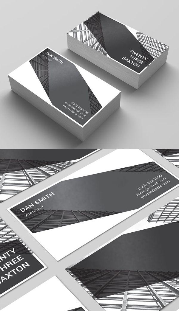 Templates de tarjetas de diversos estilos | Minimal business card ...