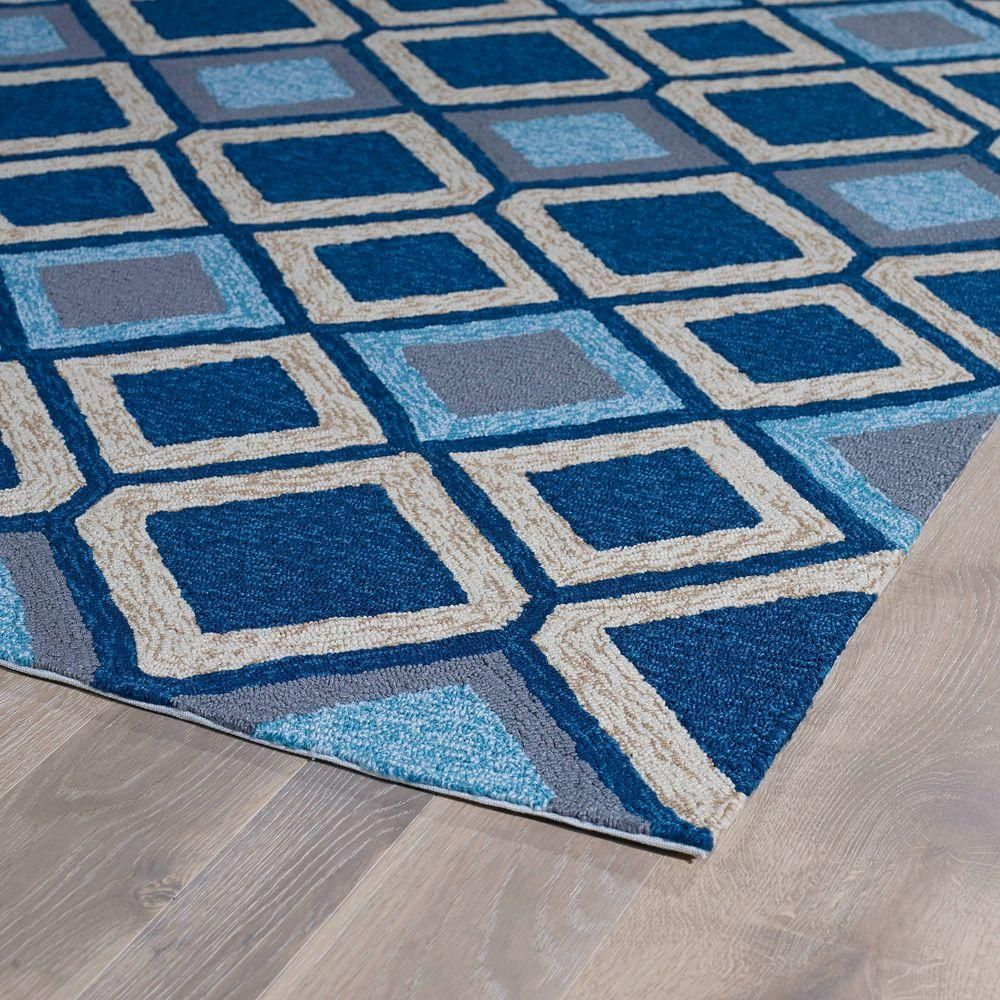 Kaleen Home And Porch Blue 9 Ft X 12 Ft Indoor Outdoor Area Rug Kaleen Indoor Outdoor Area Rugs Kaleen Rugs