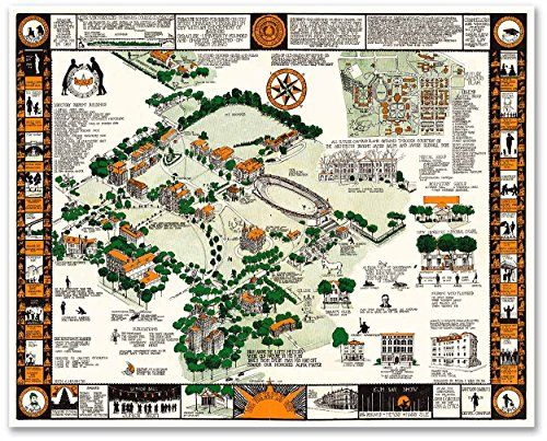 Syracuse University Campus Guide Map Circa 1928 Measure Https