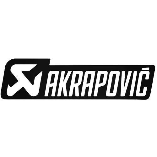 Akrapovic 2 Decal Sticker Logo Keren Stiker Gambar