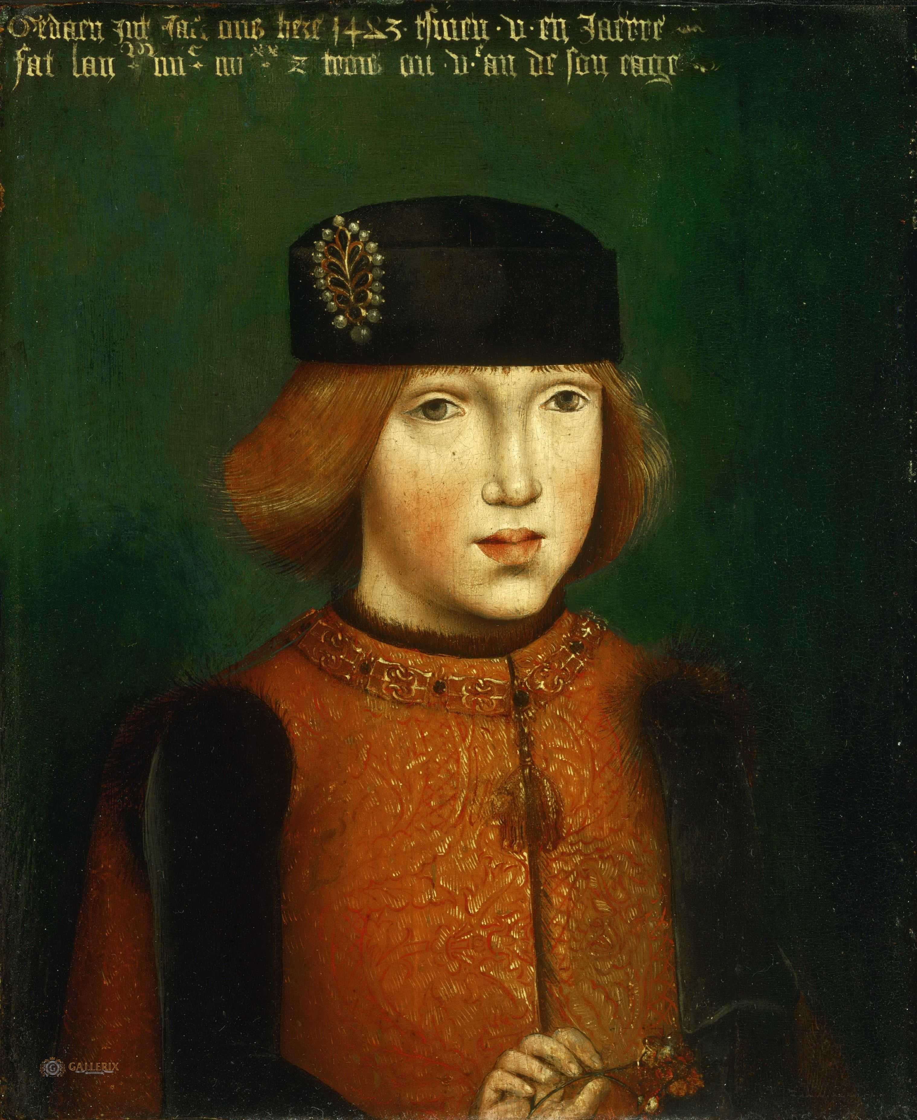 Attributed to the Master of the Magdalene Legend, Netherlandish (active Brussels), active c. 1480-c. 1520 -- Portrait of Philip the Fair