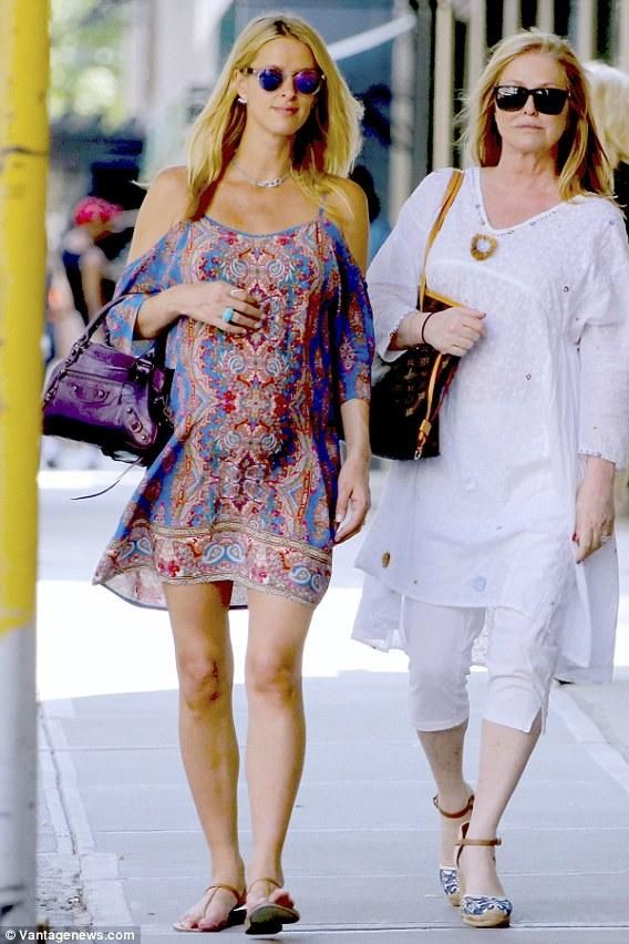 4bcfc50a1 Nicky Hilton wearing Balenciaga Classic First Bag in Purple and Tolani  Farah Dress in Royal