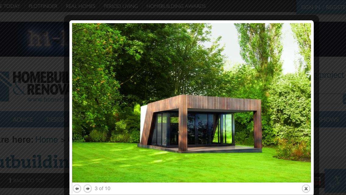 Contemporary summer house inspiration  Large windows  Garden office  Eco pod  Outbuilding