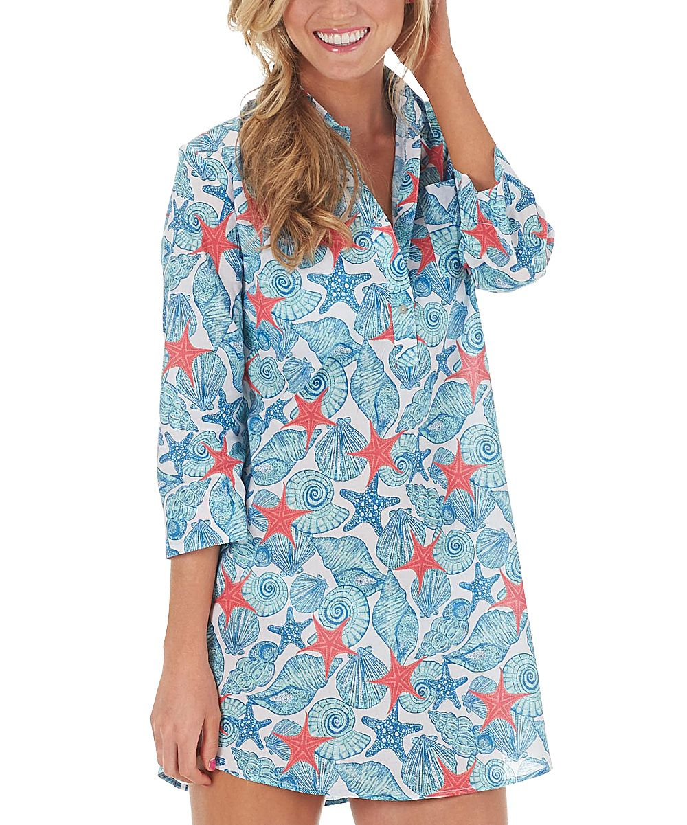 9f2ab52443 Blue Shell Kelli Tunic Cover-Up - Women | Products | Cover up, Tunic ...