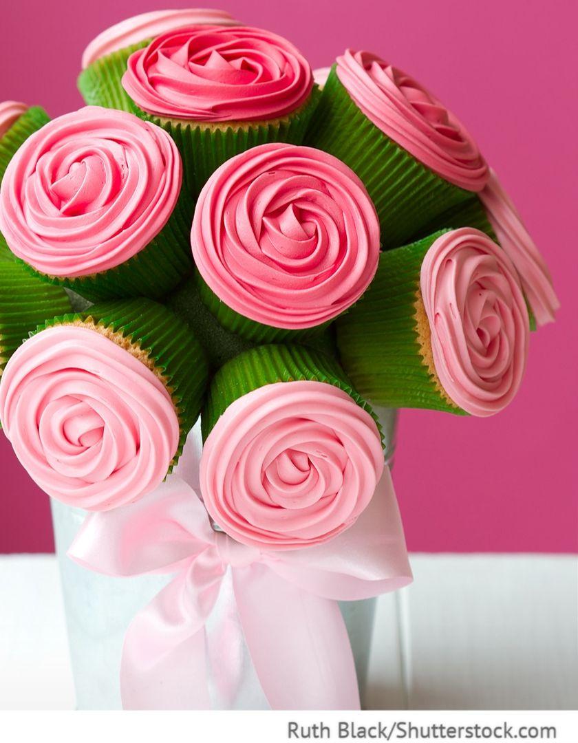 Cup Cake Strauss Geschenkidee Fur Hochzeit Fur Russische Hochzeiten