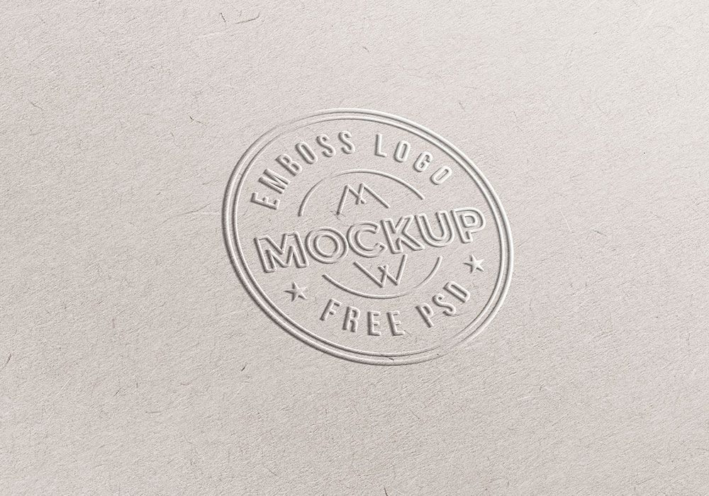 Download free emboss paper logo mockup PSD template and transform - paper design template
