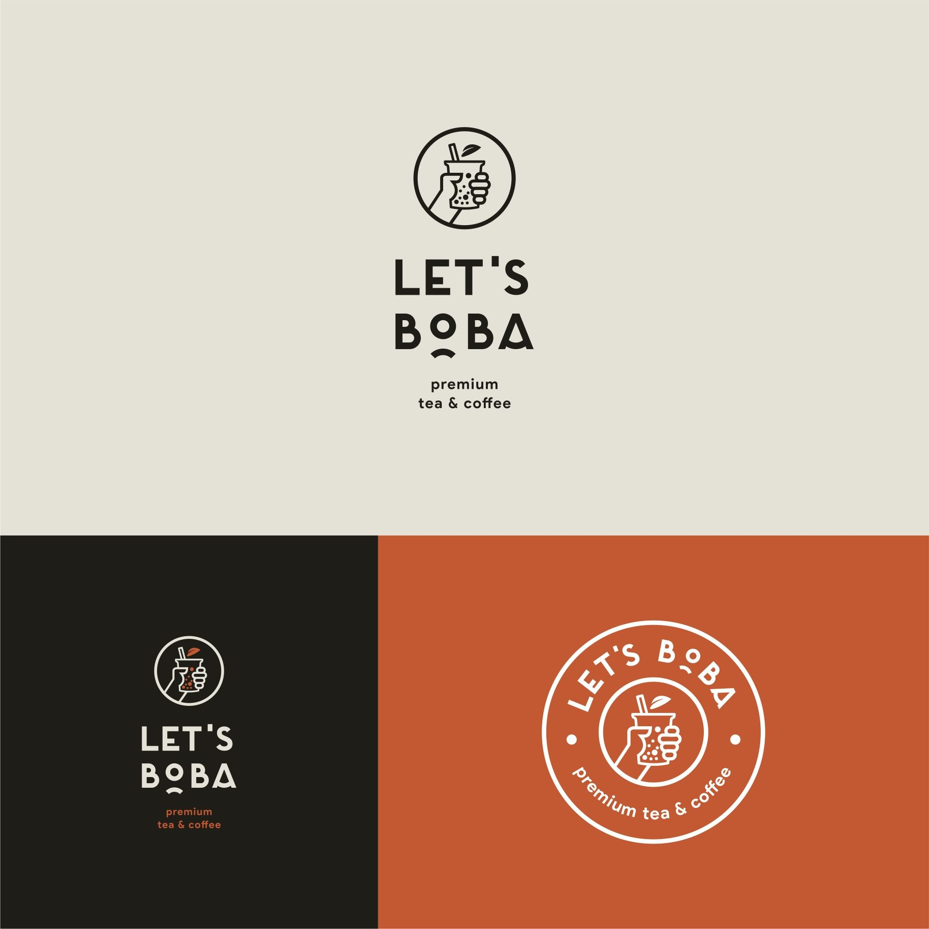 Design 37 By Francesc Alex Logo For Drinks Of Boba Milk Tea And Coffee Cafe Logo Design Coffee Shop Logo Design Food Logo Design