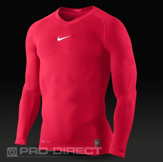Nike Baselayer - Nike Pro Combat Hypercool Vapor SMLS Long Sleeve Top -  Baselayer Clothing -