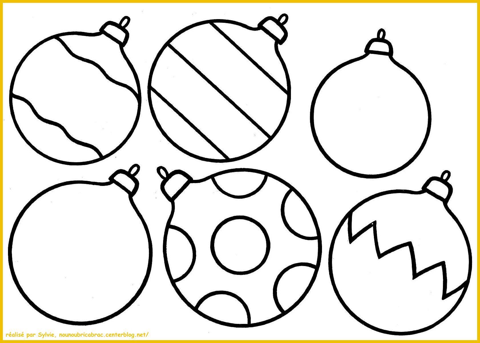 Boules de Noël à colorier  Coloriage boule de noel, Coloriage
