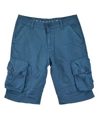 Love this Teal Cargo Shorts - Men's Regular on #zulily! #zulilyfinds
