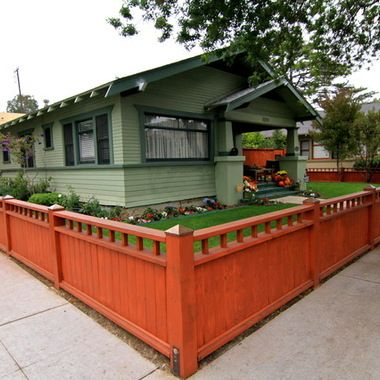Craftsman Fence Design Ideas, Pictures, Remodel, and Decor