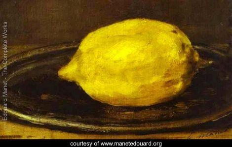 pinned to 'Yellow' @pinterest board via Köhler Foundation @carl_kohler   The Lemon by Edouard Manet http://mf.tt/enUgH