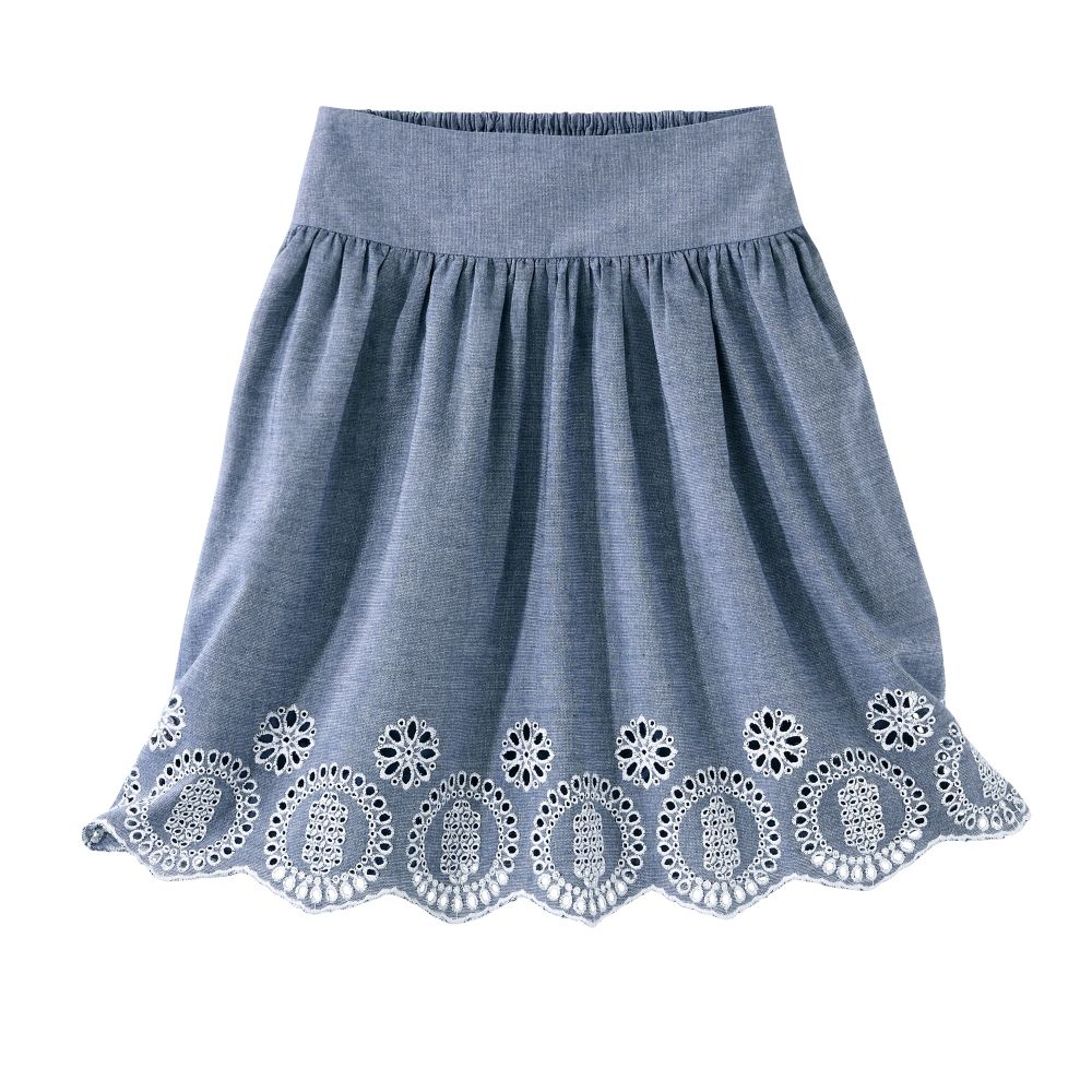 Jupe Chambray Brodee Blancheporte Idees De Mode Jupe Jupe Courte