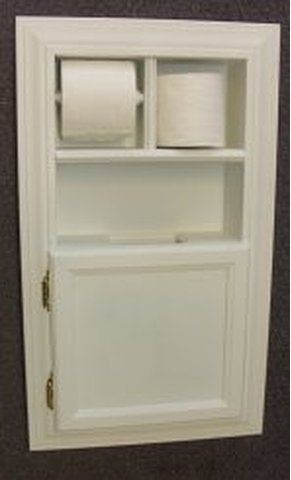 Solid Wood Recessed In The Wall Bathroom Trash Can Plus Toilet Paper Holder Projects To Try