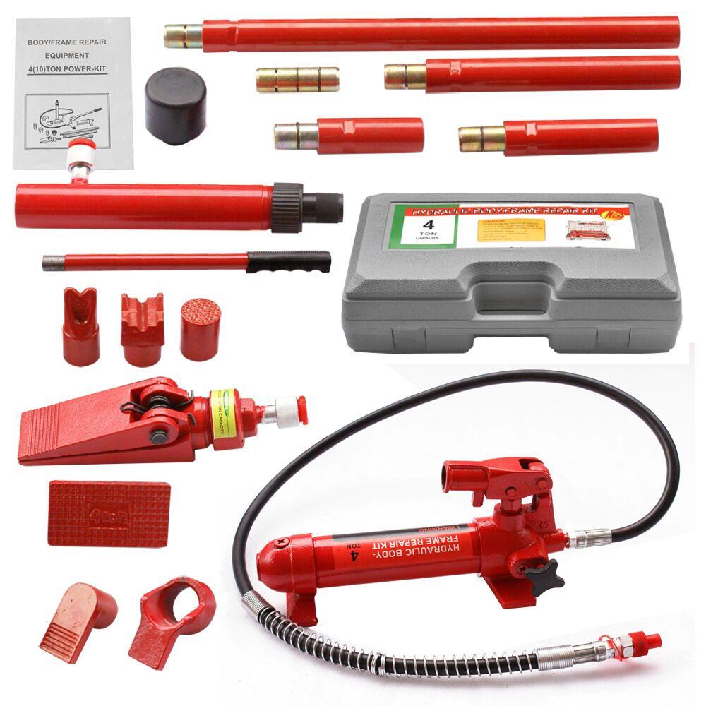 Ebay Advertisement Porta Power 4 Ton Hydraulic Jack Air Pump Lift Ram Repair Tool Kit Auto Body Auto Body Repair Air Pump