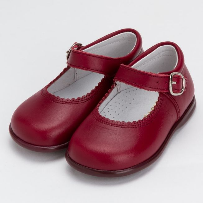457f79cc5 Shop the Dona Carmen Mary Jane Maroon Shoes as seen on Princess Charlotte