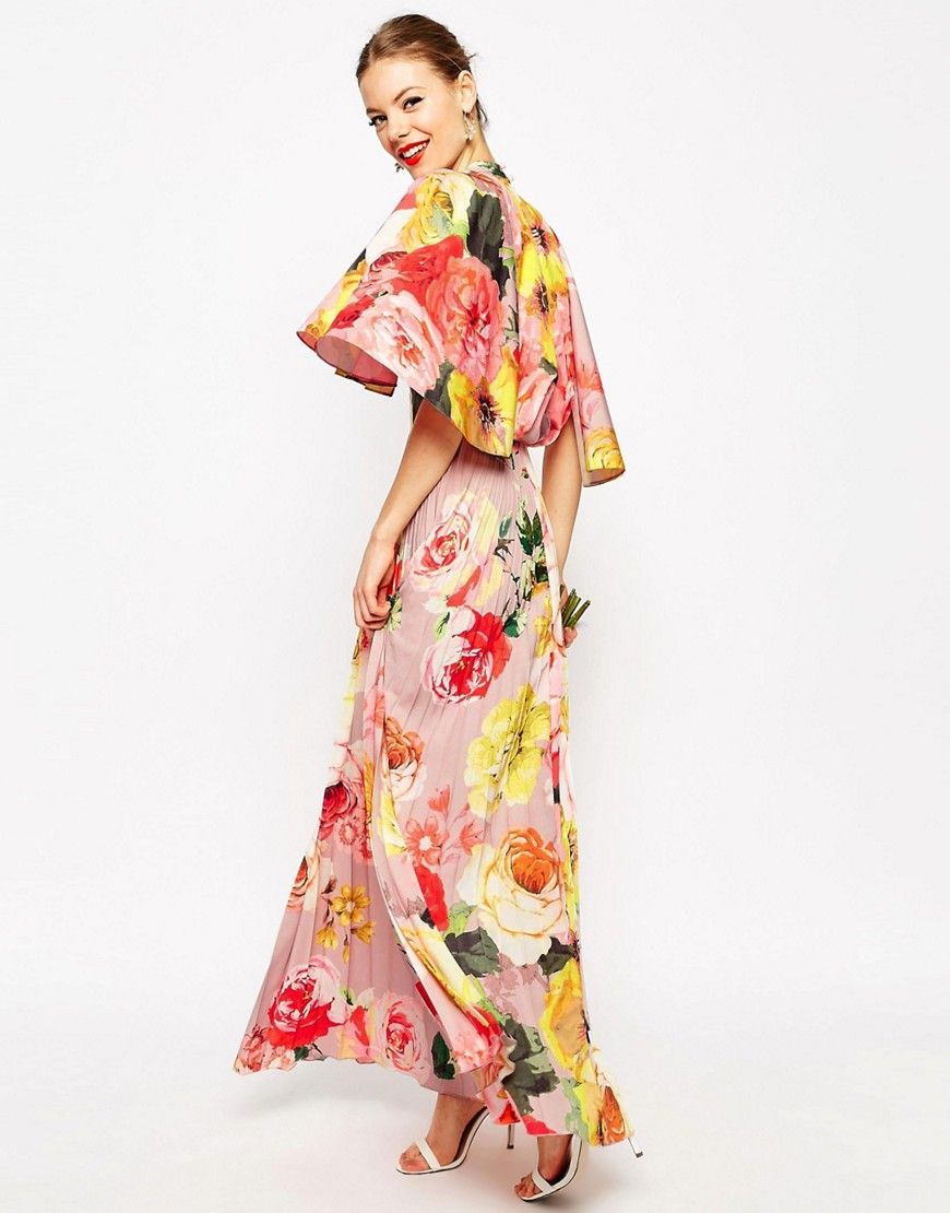 Asos wedding embellished floral drape back pencil midi dress - My Dream Wedding Dress 8 Image 1 Of Asos Wedding Pleated Maxi Dress With