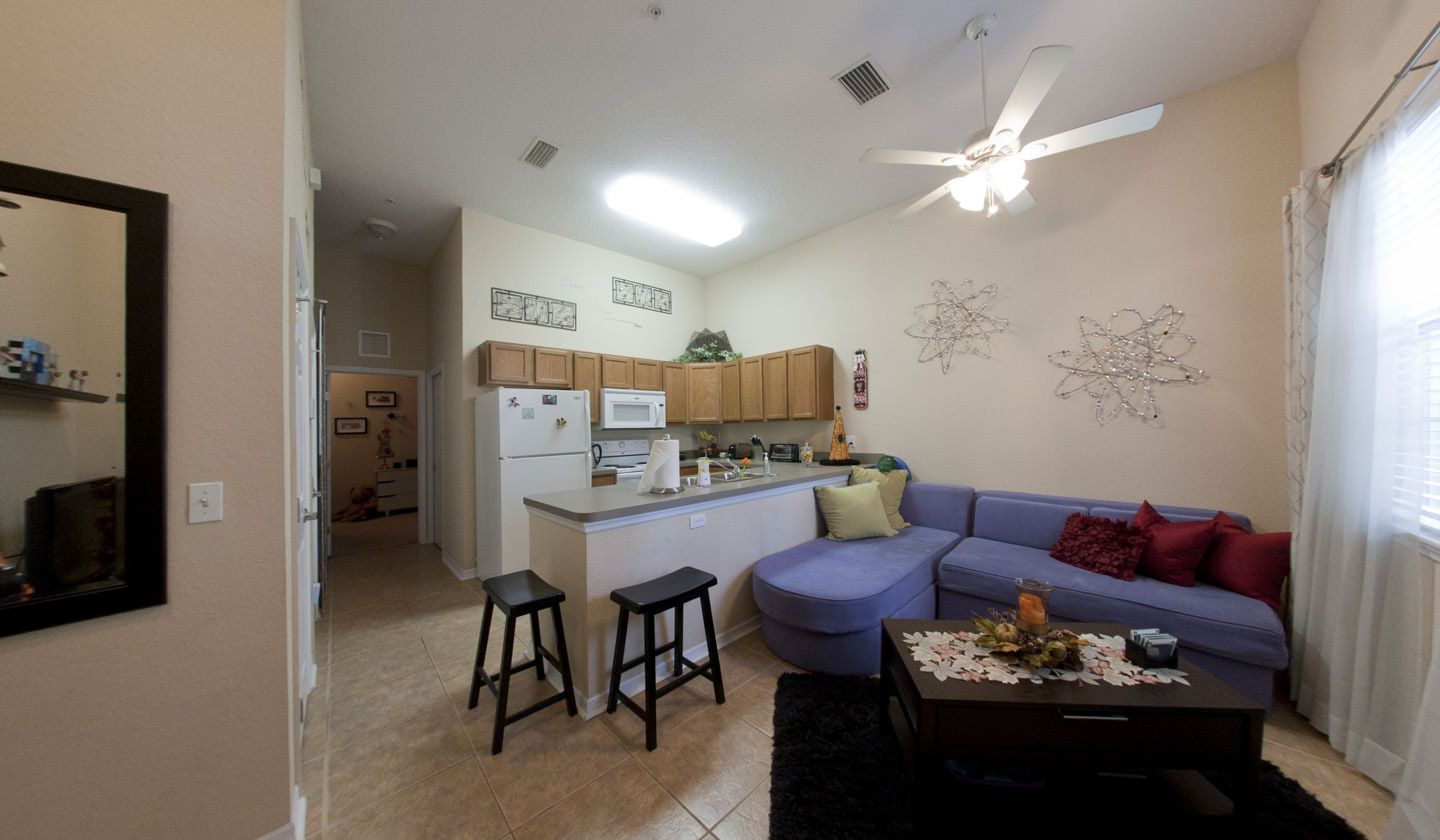 Living Room at Latitude 29° Luxury Apartments in