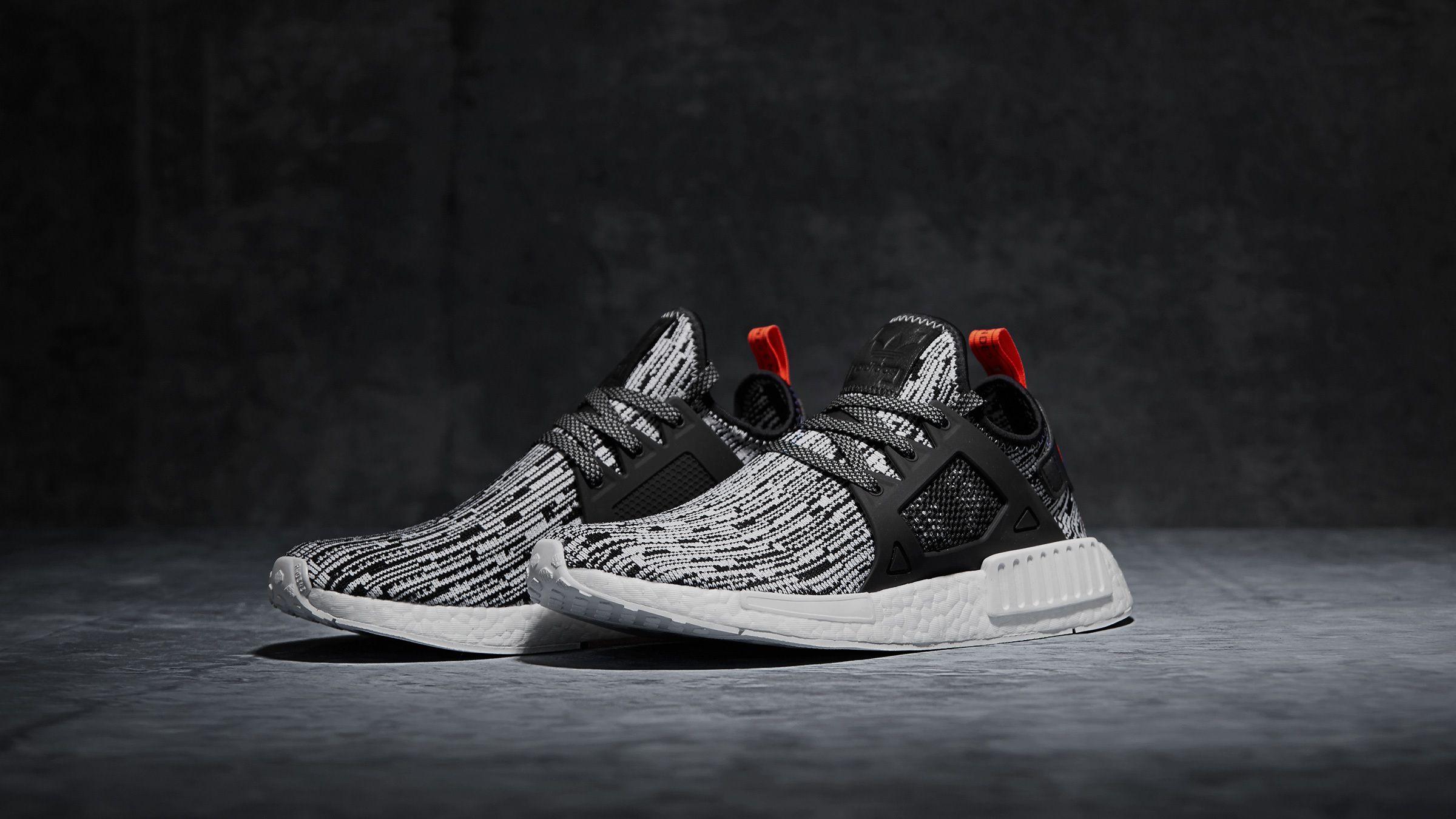 Adidas Nmd Xr1 White Black Semi Solar Red Kicks Shoes