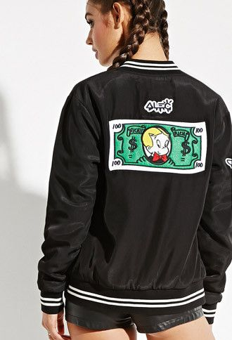 b1666924 Alec Monopoly x Forever 21 Richie Rich Bomber Jacket | Forever 21 -  2000145241