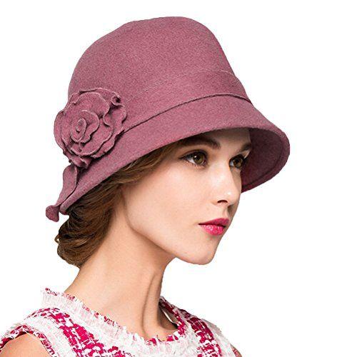 921d352c488cf Maitose™ Women s Wool Felt Flowers Church Bowler Hats Pin ...