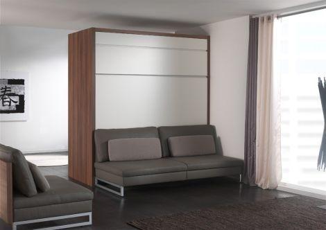 roomdivider met een bedkast opklapbed loft met bank