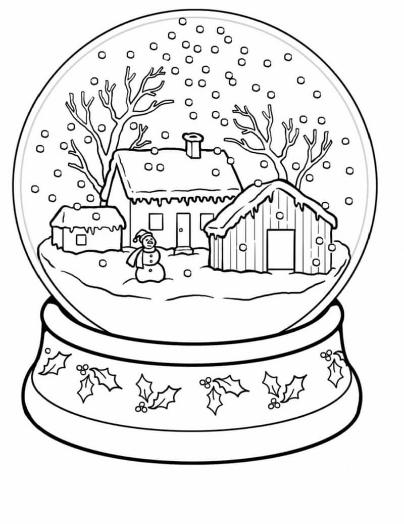Winter Wonderland Coloring Pages  Weihnachtsmalvorlagen