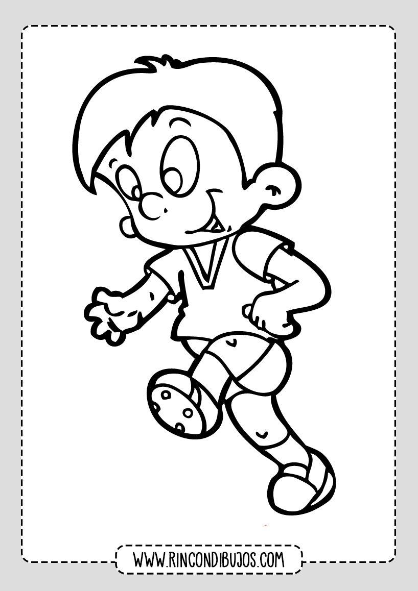 Dibujo De Nino Corriendo Rincon Dibujos Dibujos De Ninos Corriendo Dibujos Para Ninos Ninos Corriendo Para Colorear