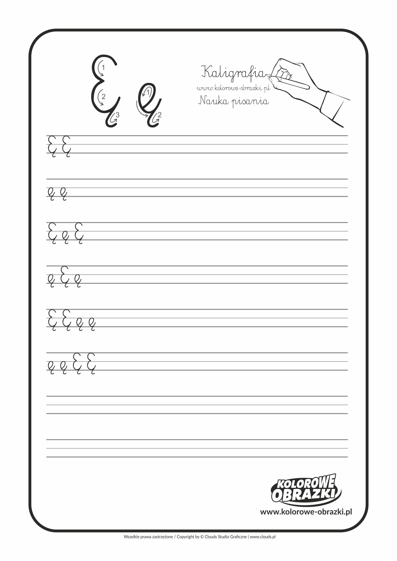 Kaligrafia Dla Dzieci Cwiczenia Kaligraficzne Litera E Nauka Pisania Litery E Letters For Kids Calligraphy For Kids Cool Coloring Pages