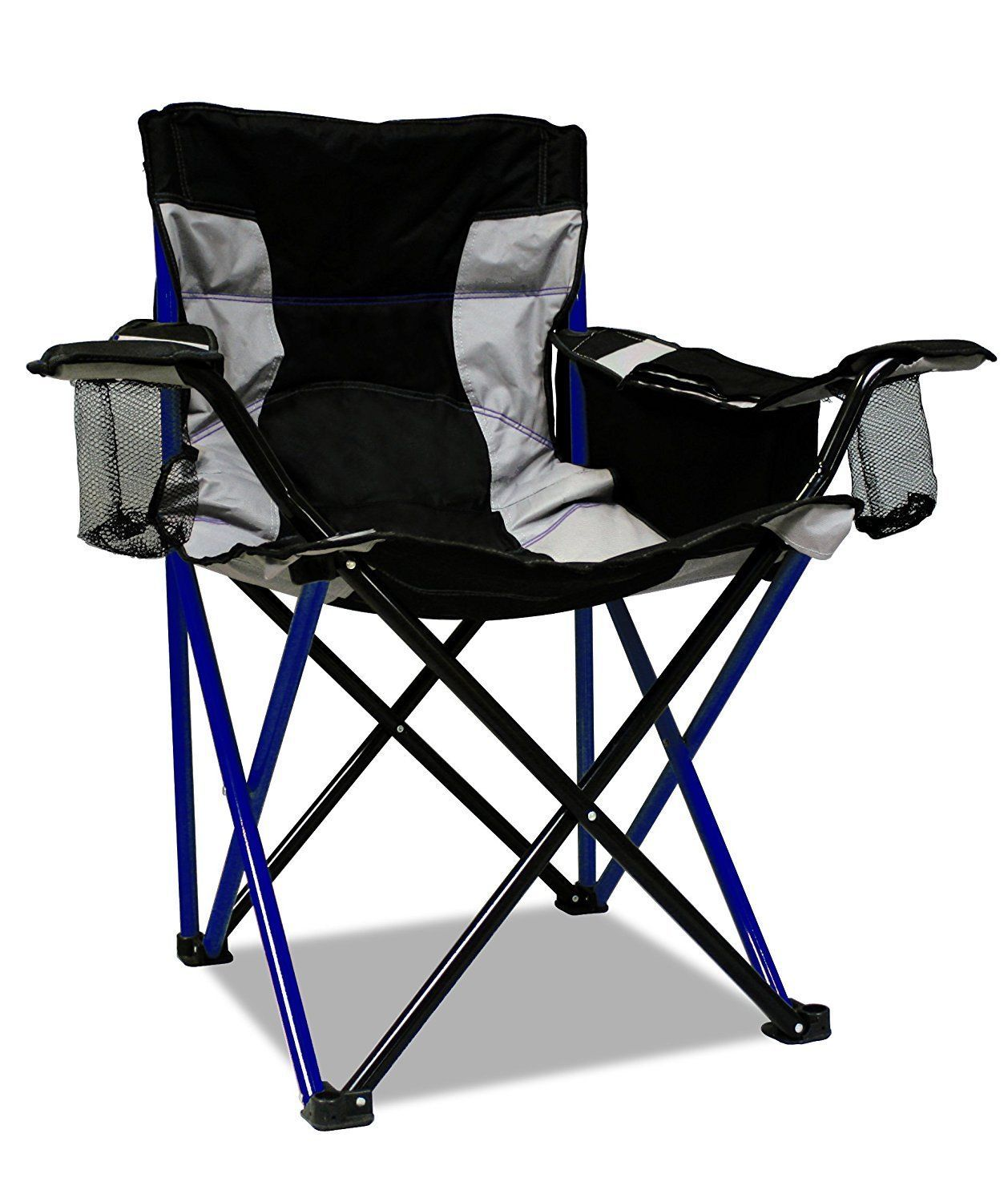 Camping Chair Heavy Duty Xl Fishing Cup Holder Outdoor Portable Fold Sport Blue Red Patio Chairs Blue Patio Chairs Camping Furniture