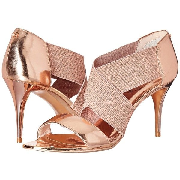 acb43f766d1934 Ted Baker Leniya (Rose Gold Mirror Metallic Leather) Women s Shoes ( 200) ❤  liked on Polyvore featuring shoes