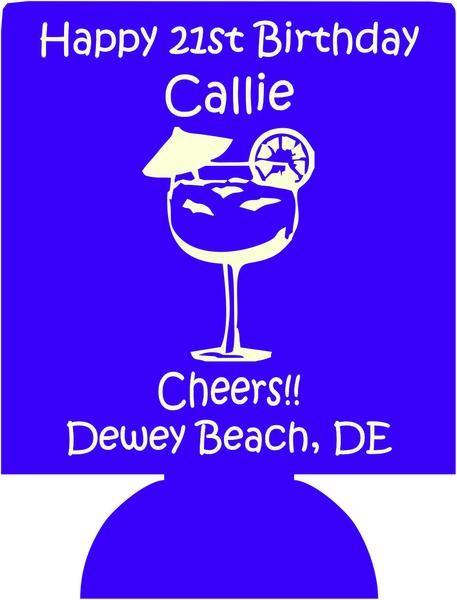 21st birthday koozie dewey beach can coolers 1028846106 Dewey