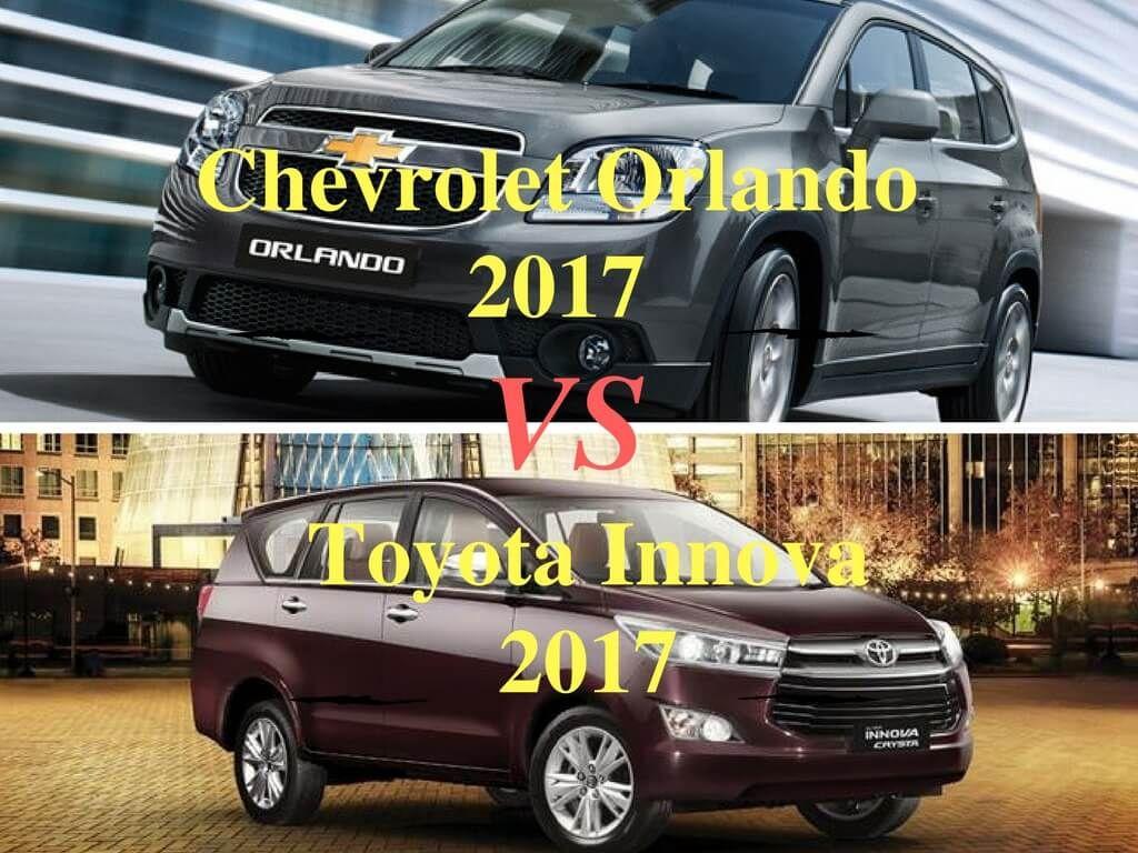 So Sanh Chevrolet Orlando 2017 Va Toyota Innova 2017 Toyota O To