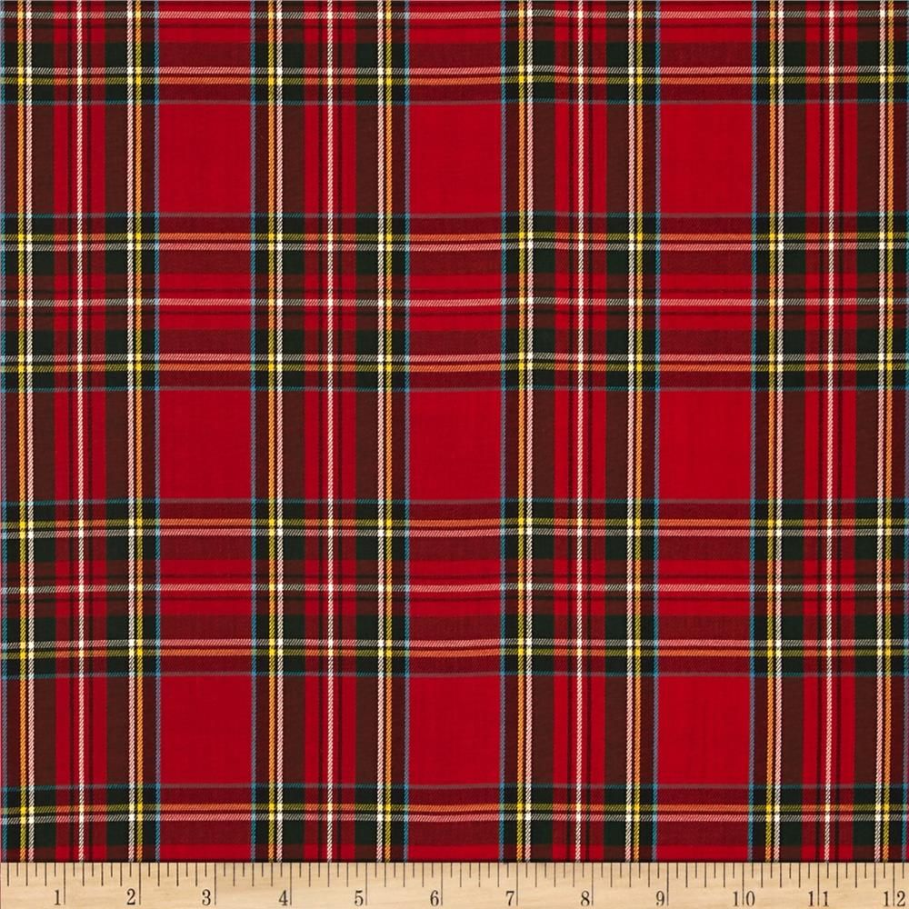 House of Wales Plaid Red from From Kaufman