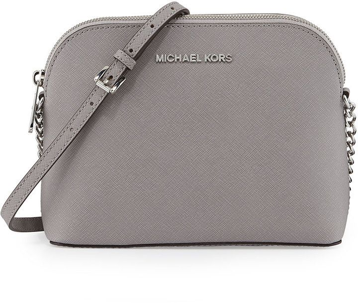 5a2c3a9dcc382c MICHAEL Michael Kors Jet Set Small Travel Dome Crossbody Bag, Pearl Gray on  shopstyle.com