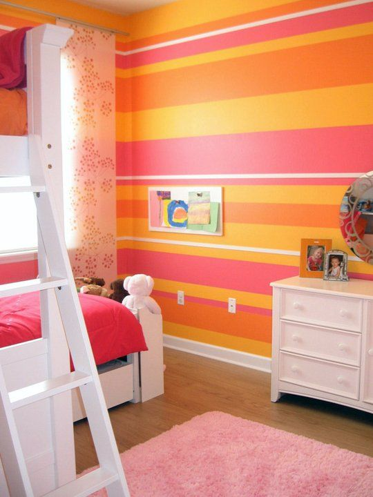 Fresh Kids Room Color Combo Pink Orange