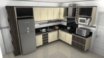 fotos de cozinhas planejadas em L pequenas