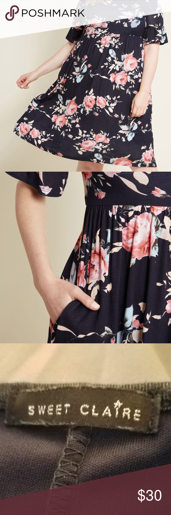 bf0042ea205 Sweet Claire Babydoll Dress, Size 4x- ModCloth Navy ModCloth ...