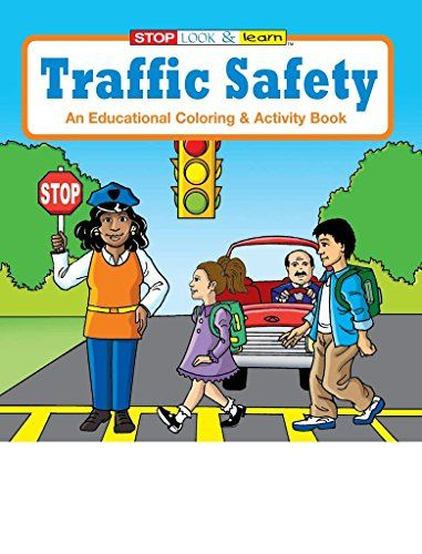 Amazon Com Coloring Book Traffic Safety Coloring Activity Book Various Quantities Office Products