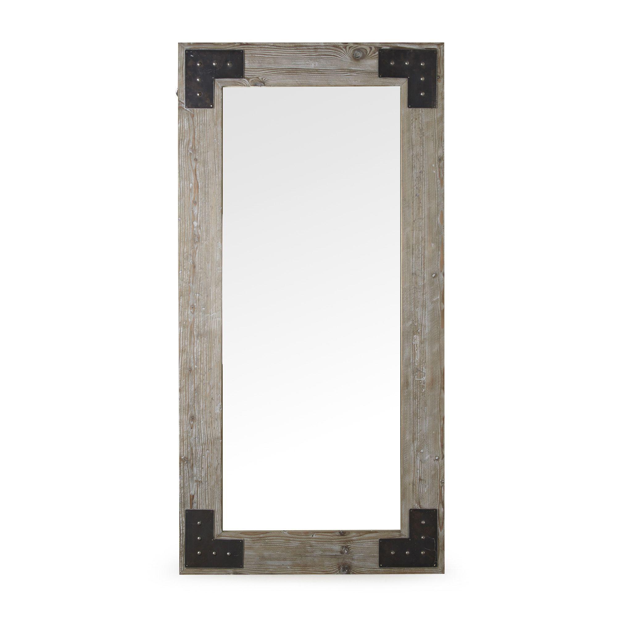 Ware Miroir Style Industriel En Pin Recycle Teinte Gris H180 X L90 Cm Alinea Miroir Style Industriel Decoration Interieure Meuble Deco