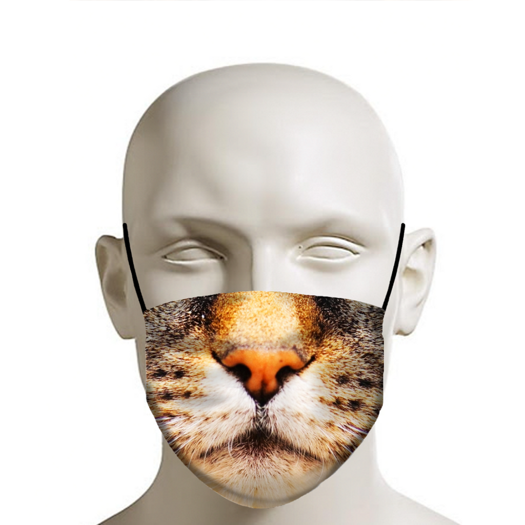 Cat Face Protection Mask In 2020 Cat Face Mask Face Protection Mask Cat Face