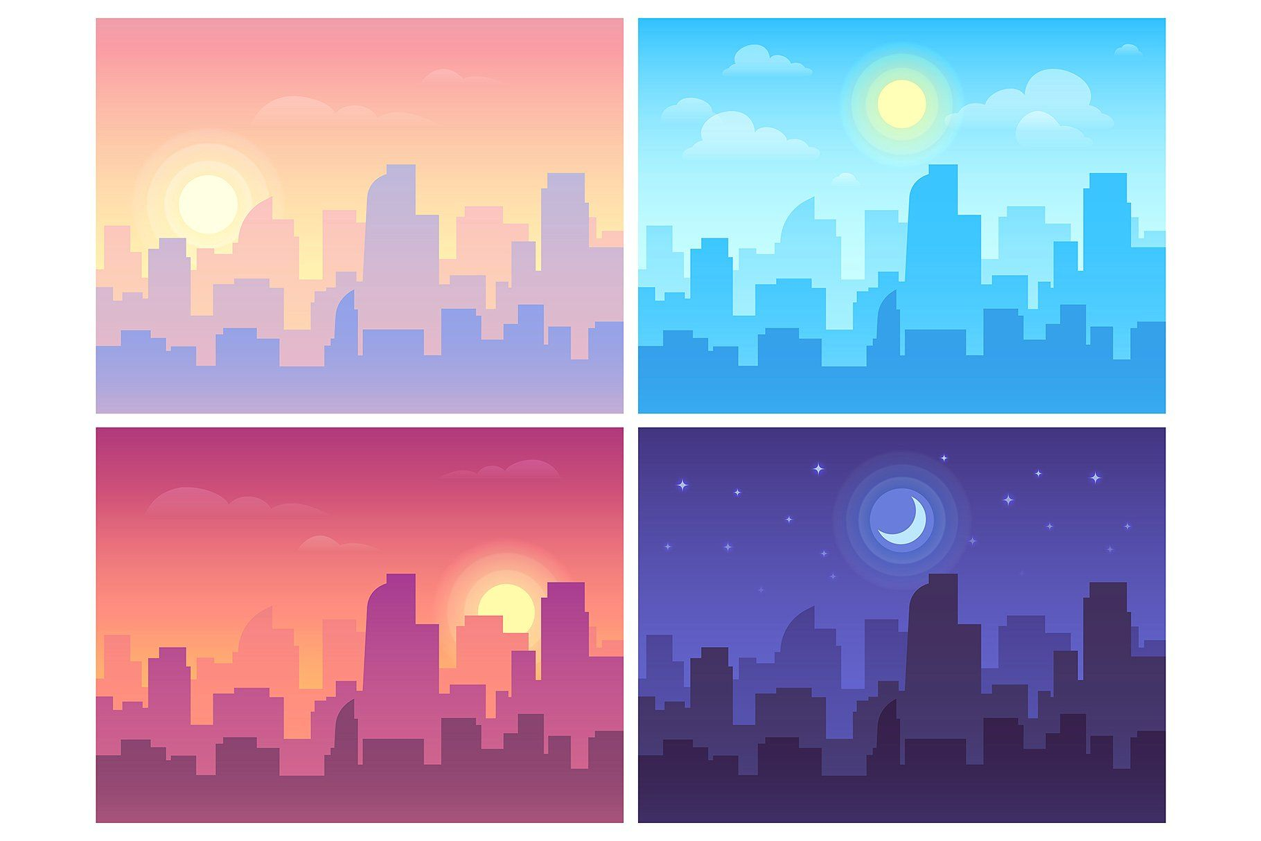 Comic Book Vector Elements City Drawing Night Illustration City Vector
