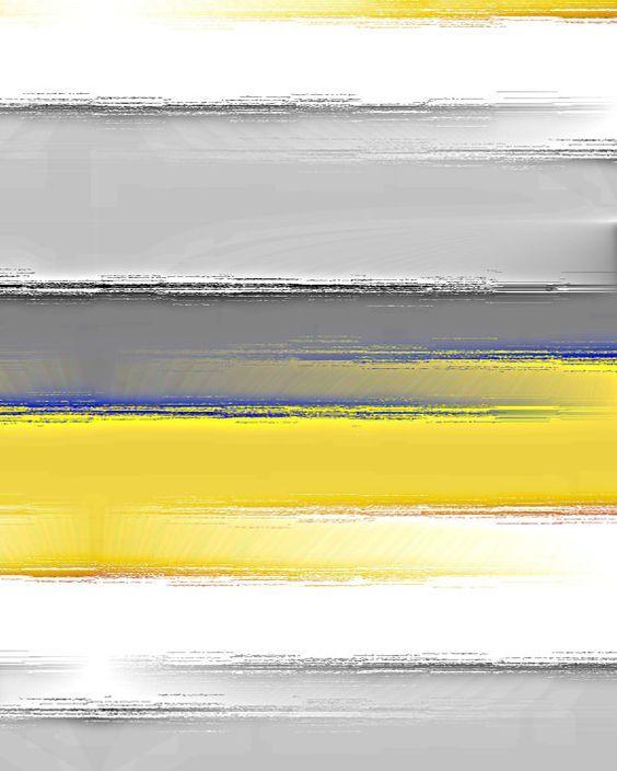yellow-and-gray-wall-art-striped-wall-art-yellow-grey-white-blue ...