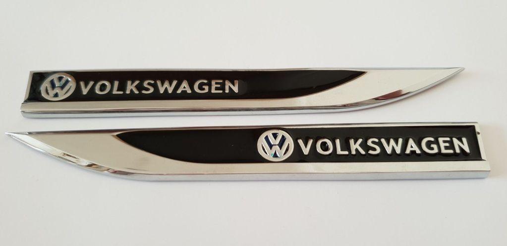 3D Metal VW Emblem For Auto Car Engine cover Hood Badge