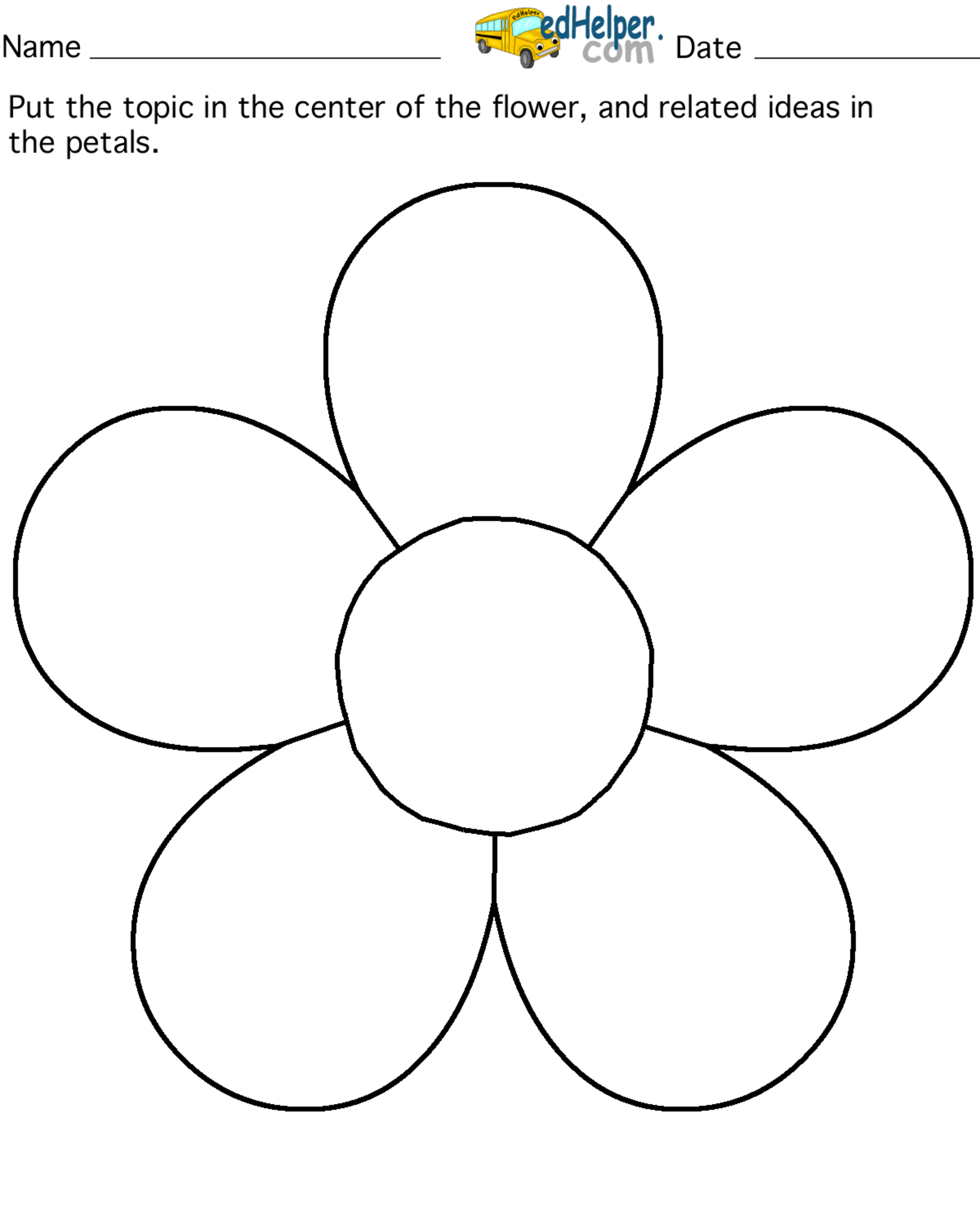 image relating to 5 Petal Flower Template Free Printable identify subject matter flower 5 petals edHelperclipart www2 server by means of