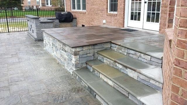 Pavers Over Concrete Porch Stone Veneer Porch Stone Veneer Porch Traditional Porch Other By Affordable Concrete Slab Patio Concrete Porch Patio Design