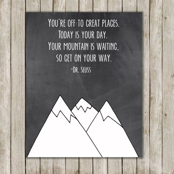 Nursery Ideas And Décor To Inspire You: Dr. Seuss Mountain Nursery Art // Nursery Print
