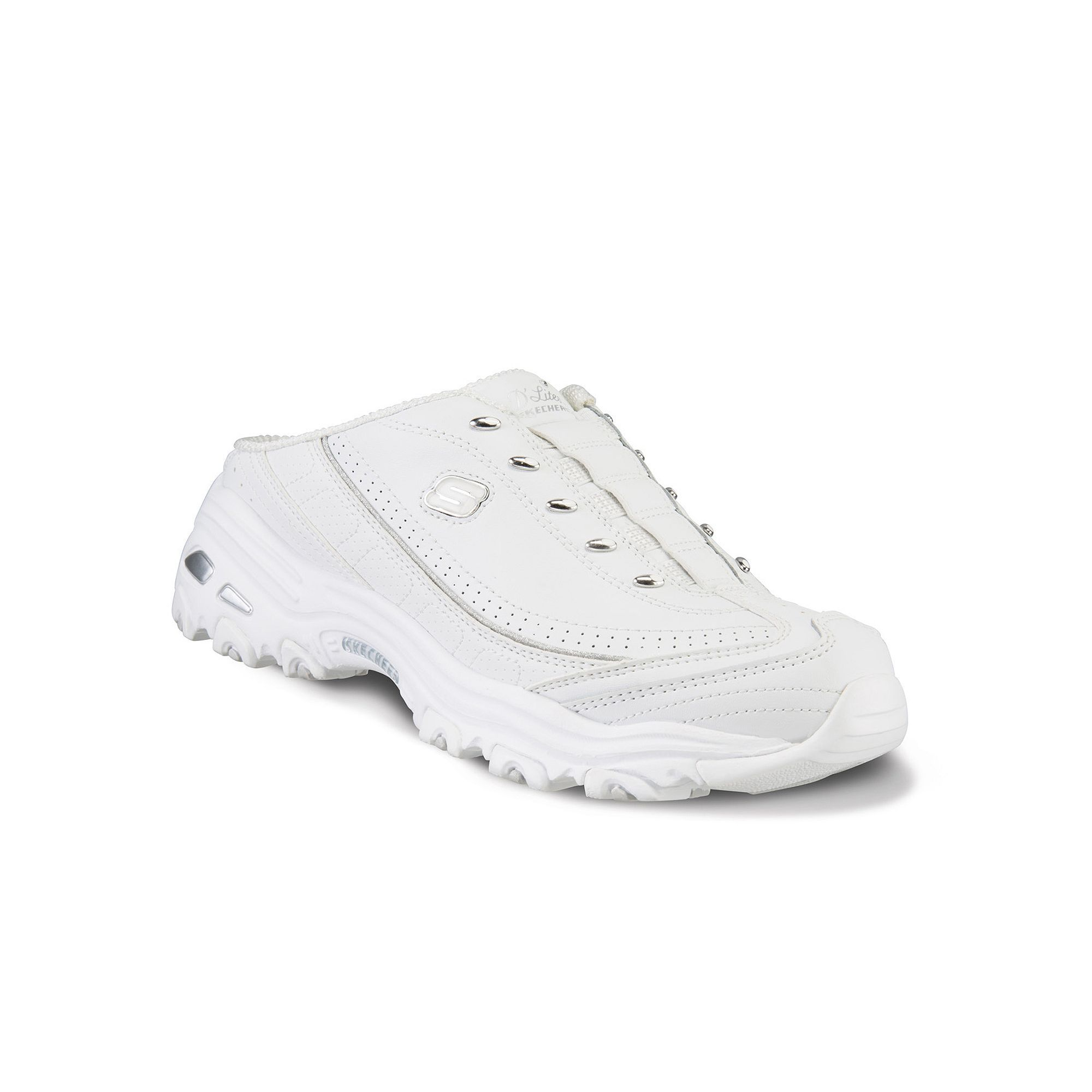 3aab809f25c Skechers D'Lites Bright Sky Women's Slip-On Clog Sneakers, Size: 8.5 Wide,  White Oth