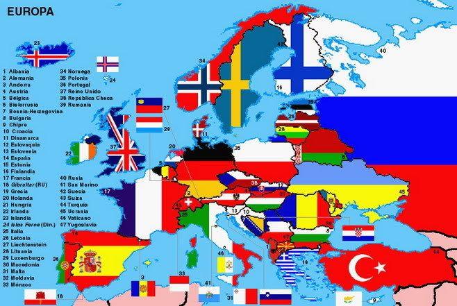 Banderas de Europa  JUEGA ONLINE  Mapa interactivoConoce los