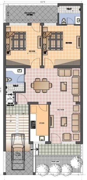 Apartment Floor Plans India 6161ground_floor_plan_25x55_news | bef | pinterest | duplex
